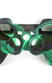 защитные двухцветный стиль силиконовый чехол для PS3 контроллер (армия зеленый и черный)