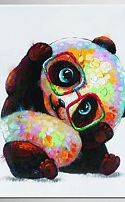 手描きの 抽象画 動物 四角形,Modern クラシック 1枚 キャンバス ハング塗装油絵 For ホームデコレーション