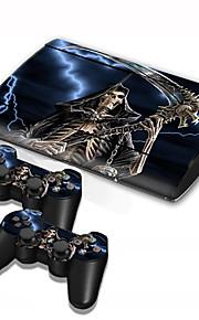 B-Skin PS3 Slim 4000 konsol skyddande klistermärke täcker flår controller hud klistermärke