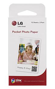 lg originele polaroid papier met 30 foto's / ps2203 doos voor popo drukmachine mobiele telefoon speciale