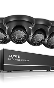 sannce 720p 8-kanaals HD DVR outdoor ir home security camera 1080n CCTV-systeem