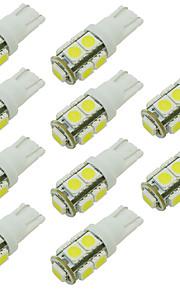 W5W 168 194 t10 9 smd leidde auto lamp voor het lezen / side marker / deur licht warm / cool whie 12V DC (10 stuks)