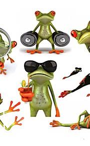 ziqiao 3d frøer vandtæt bil sticker funny gecko biler&motorcykler decal sticker