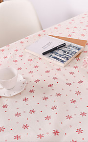 Snow Christmas Table Cloth Cotton And Linen Printed Tablecloth Hotel Tea Table Cloth Towel 60*60CM