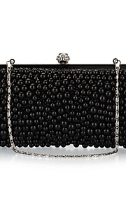 L.west Women's Luxury Diamond and Pearl Evening Bag