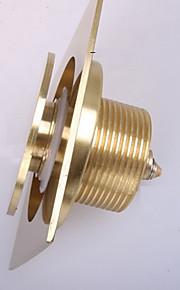 WeiYuWuXian® Golden Solid Brass Anti-odor Push Down Pop-up Floor Drain 4inch