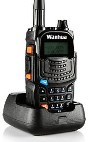 Wanhua uv6s walkie talkie vhf 136-174MHz UHF 400-520mhz 128CH 8W radio bidirezionale