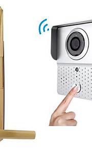 actop trådløs video intercom dørklokke fingeraftryk lås sæt ding dong tyverisikring dørklokken wifi-601tx-8s003hb8001