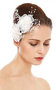 Damen Spitzen Strass Künstliche Perle Kopfschmuck-Hochzeit Besondere Anlässe Haarkämme 1 Stück