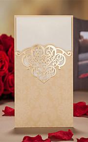 Personalisert Tre Fold Bryllupsinvitasjoner Invitasjonskort-50 Stykke/Sett Kunstnerisk Stil Vintage Stil Blomsterstil Blomster stilKort