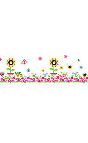 ZOOYOO® Flower Baseboard Removable Wall Stickers Window Sticker Art Decals Mural DIY Wallpaper for Room Decal