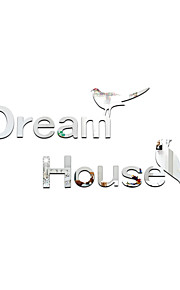 3D Wall Stickers Wall Decals Style Dream House Mirror Wall Stickers