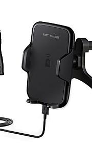 snelle auto draadloze oplader 10.8w snelladen luchtuitlaat houder voor de Samsung Galaxy rand S7 S7 rand s6 rand s8 s8 plus note5 en al qi
