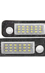 2 x fejlfri 18 3528 SMD førte nummerplade lys lampe til Ford Mondeo MK2 fiesta fusion