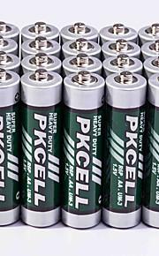 pkcell R03P aa zink-koolstof batterij 1.5v 20 stuks super heavey plicht