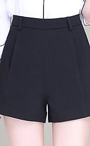 Damen Übergrössen Breites Bein Kurze Hosen Hose-Ausgehen Lässig/Alltäglich Einfach Niedlich einfarbig Hohe Hüfthöhe Reisverschluss