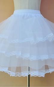Комбинации Комбинация трапецией Комбинации с пышной юбкой Ниже колена До колена 3 Тюль Полиэфир Белый