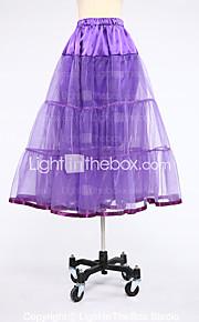 Slips Ball Gown Slip Knee-Length 2 Satin Tulle White Black Red Purple