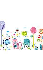 애니멀 보태니컬 카툰 벽 스티커 플레인 월스티커 데코레이티브 월 스티커,비닐 자료 홈 장식 벽 데칼