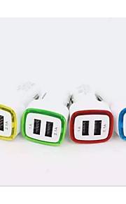 Automatisch 2 USB-poorten Auto USB-oplader Socket USB2.0 5V 2.1A