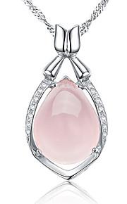 Colliers Tendance Pendentif de collier Bijoux Soirée Occasion spéciale Anniversaire Original Cristal Platiné 1pc Cadeau Argent