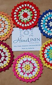 Retro Blom Bordstabletter Glasunderlägg , 100% Bomull MaterialHotell Matbord Bröllopsfest dekoration Bröllop Bankett Juldekor favör