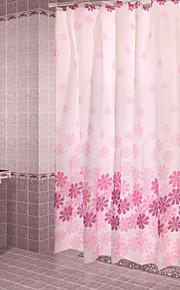 מודרני תערובת פולי / כותנה 180*180CM  -  איכות גבוהה וילונות מקלחת