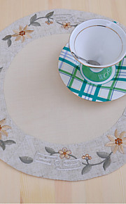 Retro Broderad Bordstabletter Glasunderlägg , 100% Bomull Material Dinner Decor Favör