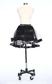 Комбинации Комбинации с пышной юбкой Короткие 2 Тюль Белый Черный Красный