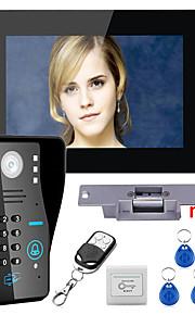 røre nøglen 7 lcd RFID adgangskode video dørtelefon intercom-system kit elektrisk strejke lås trådløs fjernbetjening låse