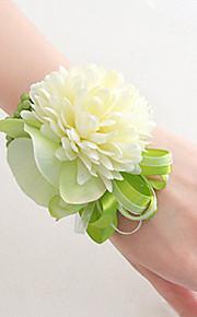פרחי חתונה בצורה חופשיה שושנים פרחי אדמוניות זר פרחים לפרק כף יד חתונה חתונה/ אירוע סאטן