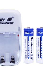 aa nikkel-cadmium genopladelige batteri 1.2V 1200mAh 2 stk