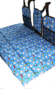 Azul Colchón de coches Sencilla(136*90*3cm)Algodón Portable Para Niños Cómodo Ajustable defensa equipamiento de seguridad