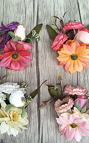 פרחי חתונה בצורה חופשיה ורדים פרחי דש חתונה חתונה/ אירוע סאטן