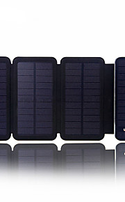sunwalk 6w 10000mah Dual USB 2100mAh udgangseffekt soloplader magt bank eksternt batteri til mobiltelefon