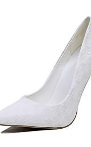 Femme-Mariage-Blanc-Talon Aiguille-club de Chaussures-Chaussures à Talons-Similicuir