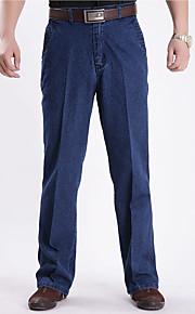 Heren Street chic Chinoiserie Hoge taille Ruimvallend strenchy Jeans BroekEffen