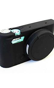 Digitale Camera-Hoes- voorCasio-Eén-schouder- met-Zwart Blauw