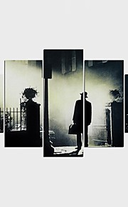Stretched Canvas Print People Modern,Five Panels Canvas Any Shape Print Wall Decor For Home Decoration