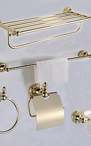 Bad Zubehör-Set / GoldMessing /Antik