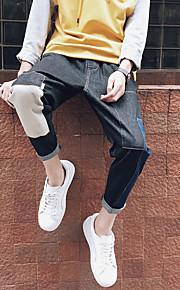 Heren Punk & Gothic Medium taille Slank Micro-elastisch Jeans BroekEffen