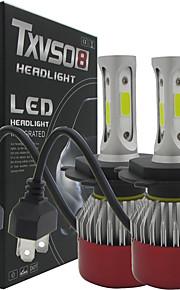 TXVSO8 Auto Led 2x H4 Hi/Lo Car Headlights 252W 25200LM Car Led Light Bulbs H4 H/L Beam Automobiles Headlamp Fog Lamps 6500K Headlight Globes Kits