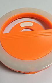Mobiele telefoon licht leidde zelfontspanner lamp usb opladen schoonheid flash nacht licht ingebouwde lithium batterij oranje