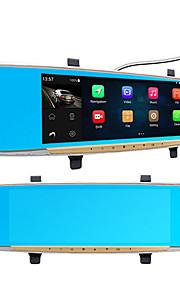 Auto camera dvr 6,86 ips touch android 4,4 fhd 1080p dash cam parking achteruitkijkspiegel videorecorder dual lens camera gps