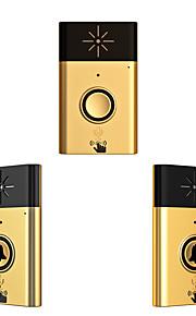 Wireless Voice intercom Doorbell Support Indoor and Outdoor Voice Intercom Up to 200ft Work Range Two Trasmitter and One Receivers Plastik