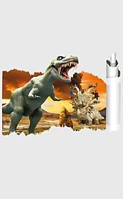חיות אנימציה 3D מדבקות קיר מדבקות קיר מטוס מדבקות קיר תלת מימד מדבקות קיר דקורטיביות מדבקות חתונה,נייר ויניל חוֹמֶר קישוט הבית מדבקות קיר