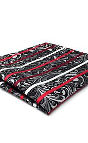 CH26 New Mens Casual Pocket Square Handkerchiefs Gray Red Multicolor Stripes 100% Silk Unique  Dress Fashion