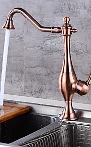 MiddensetKeramische ventielOlie-Gewreven Brons , Keuken Kraan