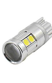 4pcs super helder t10 w5w 194 168 3030 9smd 12-24v osram LED kenteken koepel licht