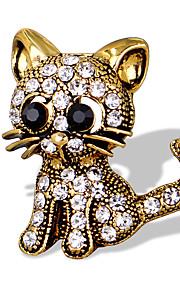 Naisten Tyttöjen Rintaneulat Uniikki Muoti söpö tyyli Euramerican Käsintehty Metalliseos Animal Shape Korut Käyttötarkoitus
